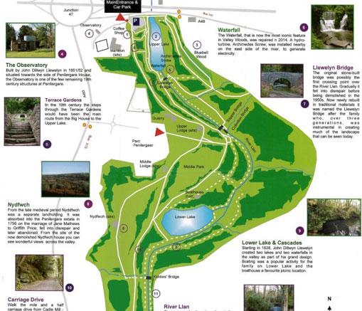Download a Penllergare Valley Woods Map here